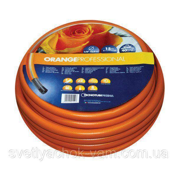 """Шланг садовый диаметр 1/2"""" длина 25м стойкий к ультрафиолету и механическим воздействиям Италия оранжевый"""