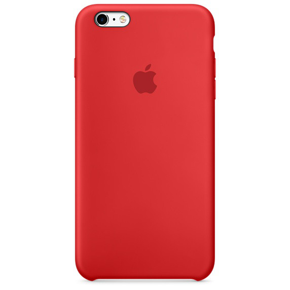 Чехол Silicone Case для Apple iPhone 6 Plus/6S Plus Candy Red, фото 1