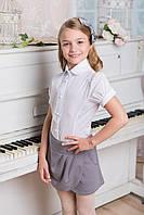 Блуза в школу с коротким рукавом