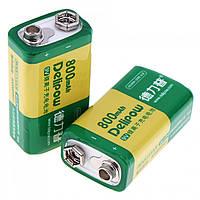 Аккумулятор Delipow 9В CR-9V Крона 6F22 6LR61 Li-ion 800мАч 10.04363