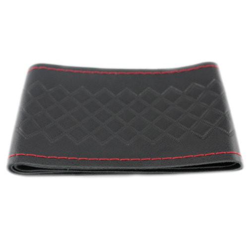 Чехол на руль кожаный 37 - 38 см черный оплетка на руль 2002-04051