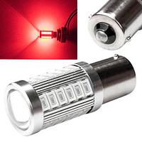 LED 1156 BA15S P21W лампа в автомобиль, 33 SMD, красная 2000-03066