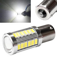 LED 1156 BA15S P21W лампа в автомобиль, 33 SMD, белая 2000-00674