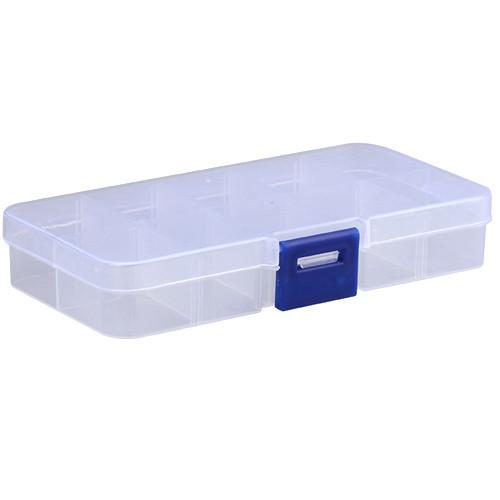Коробка органайзер кейс бокс для снастей бисера 12.5х6.3см 10 ячеек 2000-02670