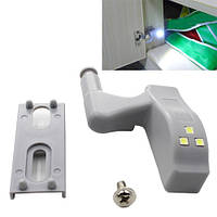 Светодиодная LED подсветка корпусной мебели шкафа на мебельную петлю | код: 10.01247
