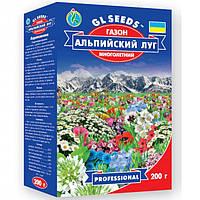 Насіння квітучого газону Альпійський Луг багаторічна універсальна декоративна суміш, коробка 200 г
