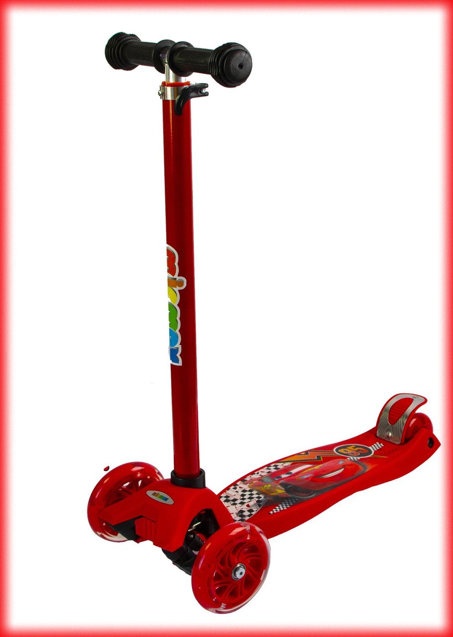 Самокат детский Best scooter MAXI Disney Тачки Молния Маквин