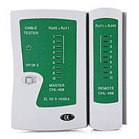 Тестер сети, телефонного кабеля, RJ45 RJ11 зеленый 2000-00239