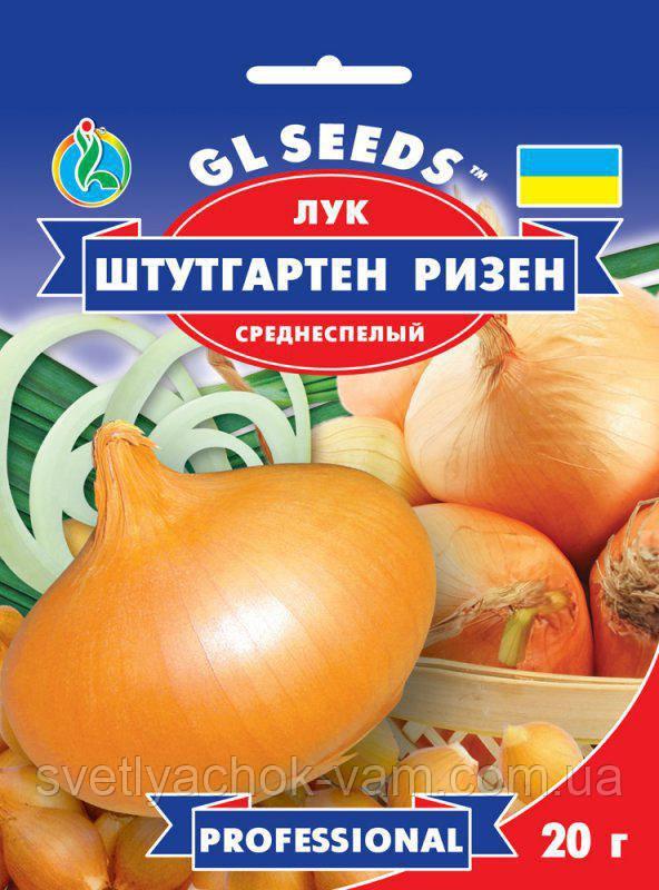 Цибуля Штутгарт Різен лежкий сорт високоврожайний чудовий середньостиглий пікантний, упаковка 20 г