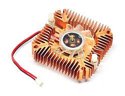 Вентилятор с радиатором 55мм 12В 2пин кулер для видеокарты | код: 10.03269