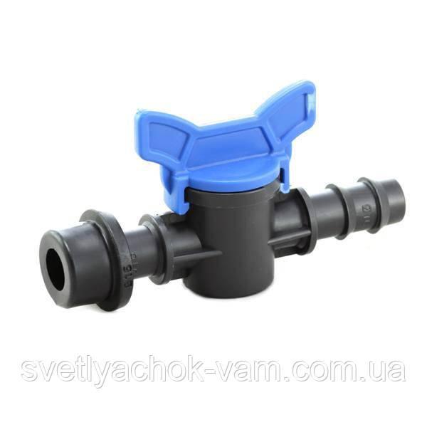 Кран стартовый с резинкой Maviдля создания систем капельного полива для трубки 16 мм (9106)