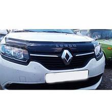Дефлектор капота, мухобойка Renault Logan с 2014 г.в. VIP