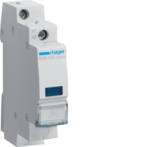 Индикатор LED синий Hager SVN124, 230В