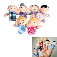 Мягкая игрушка на палец пальчиковий театр семья 2000-03839