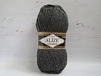 Пряжа для ручного вязания Alize Lanagold цвет 182 серый, полушерстяная пряжа для вязания шапок, свитеров