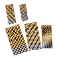 50x Сверло спиральное по металлу 1-3 мм, набор | код: 10.03826