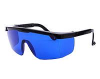Очки синие усиливающие защитные для лазерного гравера, уровня 2000-04447