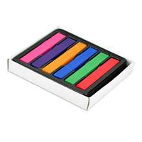 Временная краска для волос, мелки, пастель, 6 цвет 2000-01141