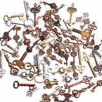 Набор из 100 металлических подвесок шармов шармиков, ключики 2000-00940