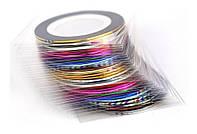 Клейкие ленты для ногтей, нейл-арт маникюр, 30штук   код: 10.02971
