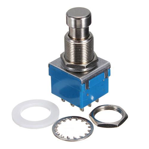 3PDT кнопка, ножной переключатель с фиксацией True Bypass 9pin 2000-01213