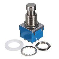 3PDT кнопка, ножной переключатель с фиксацией True Bypass 9pin | код: 10.01213