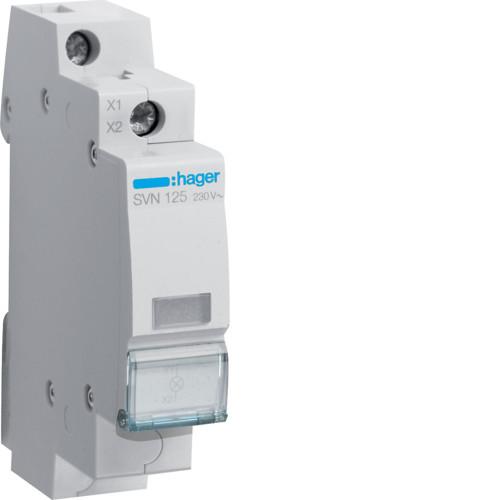 Индикатор LED белый Hager SVN125, 230В