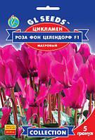 Цикламен Роза фон Целлендорф F1 сорт великоквітковий махровий, упаковка 5 гранул