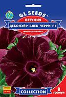 Петуния Бархатная Роза Дэбон Эйр Блэк черри F1 многоцветковая, упаковка 5 гранул