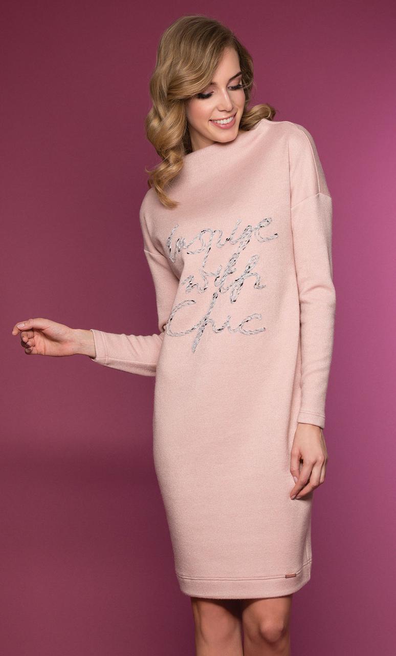 Женское платье Mirell Zaps розового цвета. Размеры 44-50