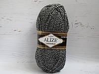 Пряжа для вязания Alize Lanagold цвет 601 меланж, полушерстяная пряжа для вязания шапок, свитеров