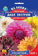 Георгина Дабл Экстрим роскошное растение высотой 50-60 см обильно цветёт до заморозков, упаковка 0,25 г