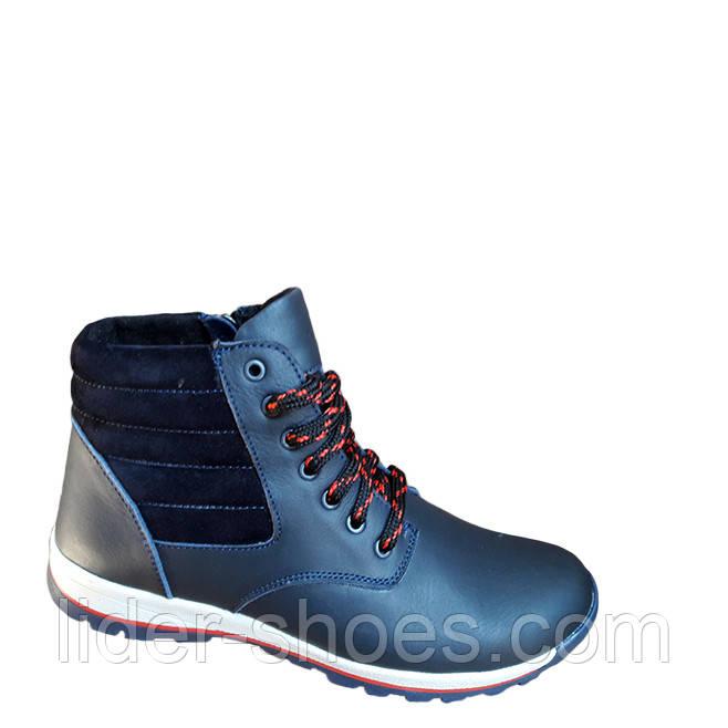 Зимние подростковые ботинки на шнурках