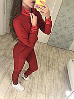 Модный молодежный спортивный костюм, кофта на молнии с оригинальными воротом и манжетами из сетки резинки.