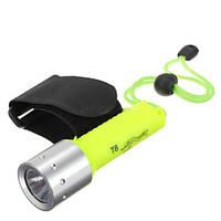 Подводный фонарь на руку, дайвинг, охота, CREE T6 | код: 10.01212