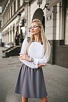 Платье с белым верхом в расцветках  25216, фото 1