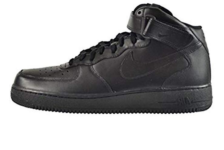 d3e5c74ca2f4 Мужские кроссовки Nike Air Force 1 Mid 07 Leather Black (Реплика ААА класса)