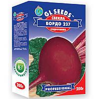 Свекла столовая Бордо сорт среднеспелый мякоть сочная нежная сахаристая лежкость высокая, коробка 200 г