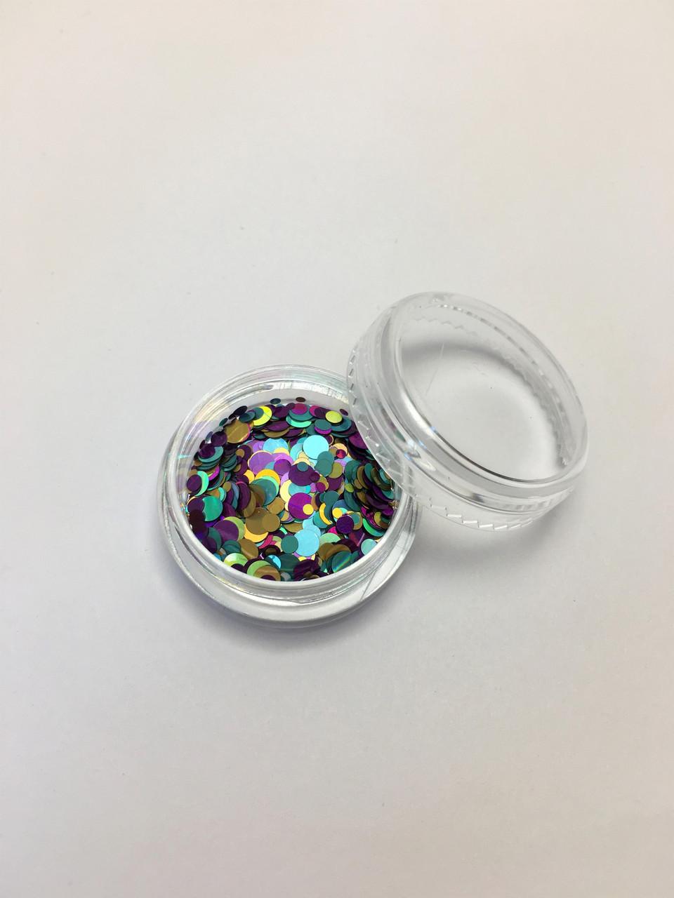 Конфетти для дизайна ногтей в баночке
