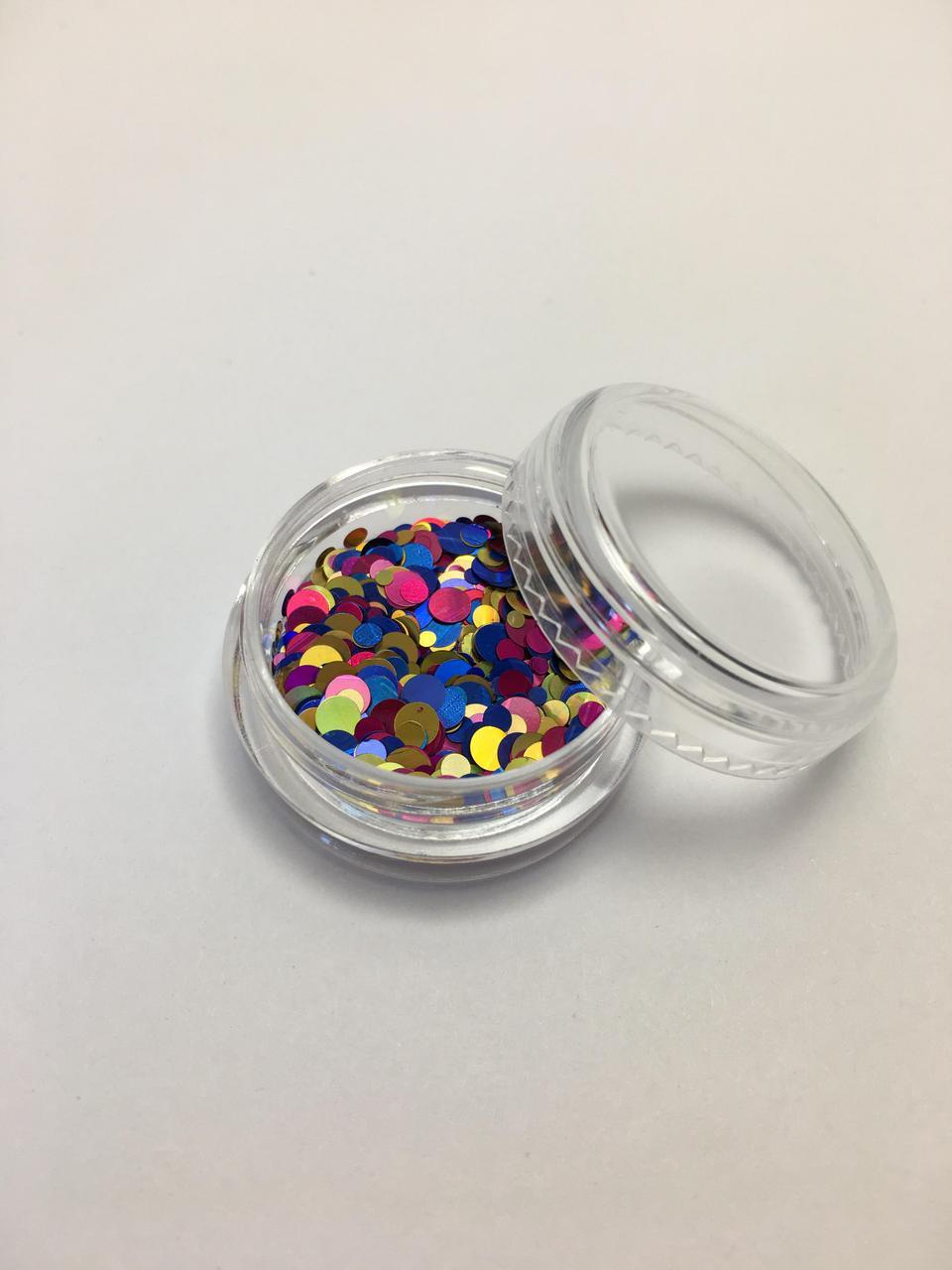 Конфетті для дизайну нігтів в баночці