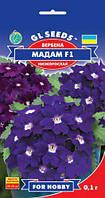 Вербена Мадам F1 растение обильно цветущая с нежным ароматом бархатная с белыми гласками, упаковка 0,1 г