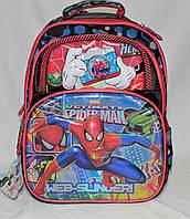 Школьный рюкзак + пенал Человек Паук для мальчиков 1, 2, 3 класс. Портфель ранец ортопедический для школы