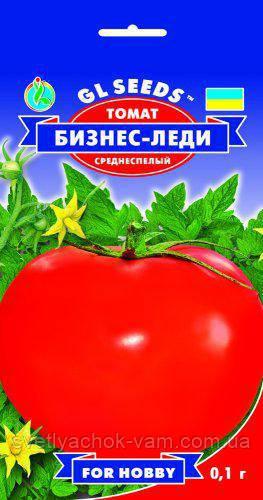 Томат Бизнес Леди эффектный сорт высокопродуктивный вкусный нежный плотный среднеспелый, упаковка 0,1 г