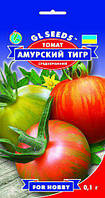 Томат Амурский Тигр сорт оригинальный урожайный экзот среднеранний сладкой нежной мякоть, упаковка 0,1 г