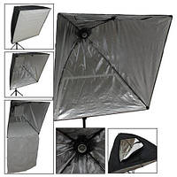 Софтбокс 75х75 см с патроном Е27, отражающий зонт | код: 10.04074