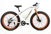 Элеткровелосипед элитного класса Fat-Bike Love Freedom с толстыми колесами горный мощность 250 ВТ Белый