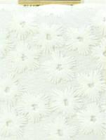 Клатч с вышивкой на каркасной основе белый ZL394 - (18x10x4cm) – white