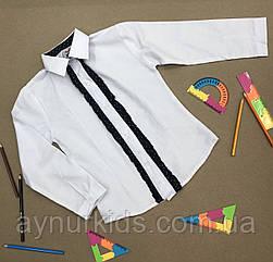 Белая блузка для девочки  9-10-11-12 лет