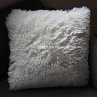 Меховая наволочка 50х50 см белая