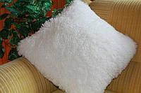 Ворсистая подушка 50х50 см. белая